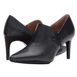 Calvin Klein Joanie Leather Pointed-Toe Shootie 9